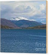 Ice Capped Mountains At Ullapool Wood Print