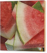 Ice Cold Watermelon Slices 2 Wood Print by Andee Design