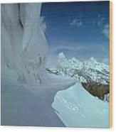 1m9340-ice Cornices, Jackson Hole Wood Print