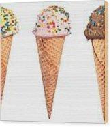 Ice Cream Cone Assortment Wood Print