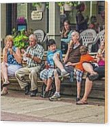 Ice Cream Eaters...an Observation Wood Print