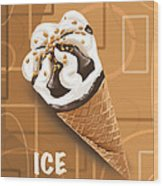 Ice Cream Wood Print