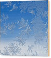 Ice Crystals Wood Print