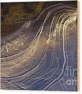 Ice Curve Wood Print