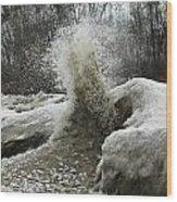 Ice Eruption Wood Print