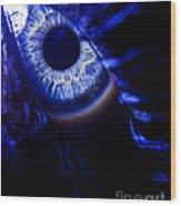 Ice Eye Wood Print