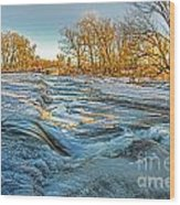 Ice Falls 2 Wood Print by Baywest Imaging