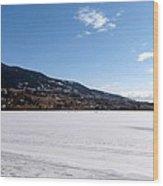 Ice Fishing On Wood Lake Wood Print