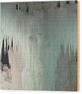 Ice Flow 23 Wood Print