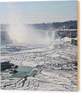 Ice Flows At Niagara Wood Print