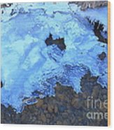Ice Formation Wood Print