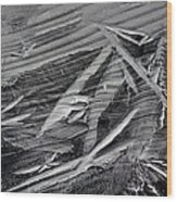 Ice Formations Wood Print