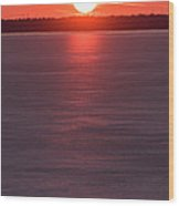 Ice Glow Sunset Seaside New Jersey Wood Print