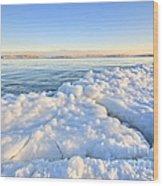 Ice Goosebumps Wood Print