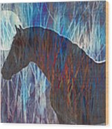 Ice Horse Wood Print