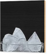 Ice In A Glass Wood Print