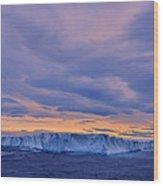 Ice Island Wood Print