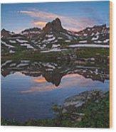 Ice Lakes Basin Sunrise Wood Print