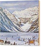Ice Magic-lake Louise Winter Festival Wood Print