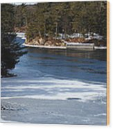 Ice On The St. Lawrence Wood Print