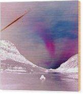 Ice Planet Wood Print