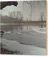 Ice River Wood Print