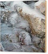 Ice Rock Wood Print