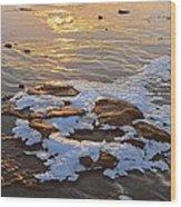 Ice Rocks Wood Print