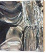 Ice Scape  Wood Print