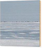 Ice Shack Overload Wood Print