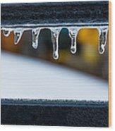 Ice Teeth On Colors Wood Print