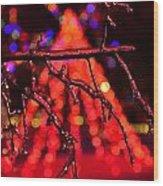 Ice Tree 2 Wood Print by Jeffrey J Nagy