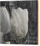 Ice Tulip  Wood Print