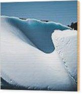 Ice V Wood Print by David Pinsent