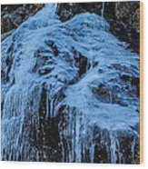 Ice Waterfall Wood Print