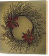 Ice Wreath Wood Print