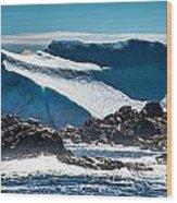Ice Xix Wood Print by David Pinsent
