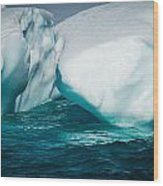 Ice Xxxi Wood Print by David Pinsent