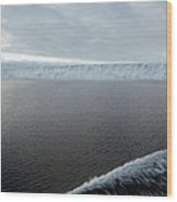 Iceberg And Polinya In The Ross Sea Wood Print