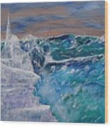 Iceberg Awaits The Titanic Wood Print