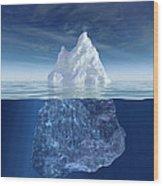 Iceberg Wood Print by Boon Mee