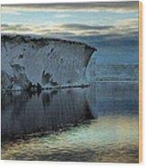 Iceberg In The Ross Sea At Night Wood Print