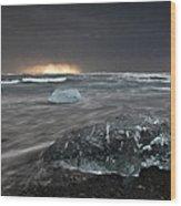 Iceberg Led Us Wood Print