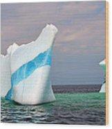 Iceberg Off The Coast Of Newfoundland Wood Print