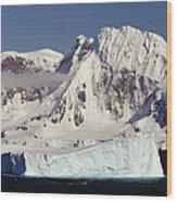 Icebergs Northern Tip Of The Antarctic Wood Print