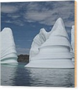Icebergs Wood Print