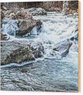 Iced Creek Wood Print