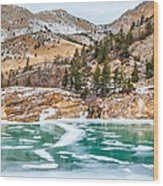 Iced Over Wood Print