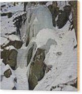 Iced Rocks Wood Print