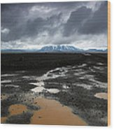 Iceland After The Rain Wood Print